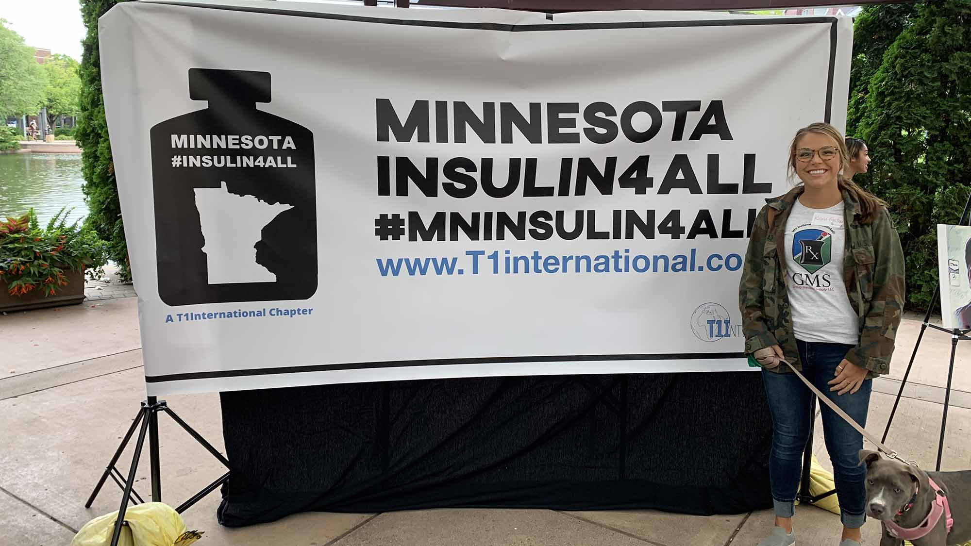 Kiana at the Minnesota Insulin 4all event